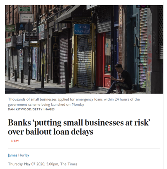 Banks have let us down: CBILS still not working says The CFN - The  Corporate Finance Network